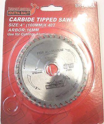 """4 """" (100mm) - 16mm Bore Aluminium Cutting Saw Blade (Wood available)"""