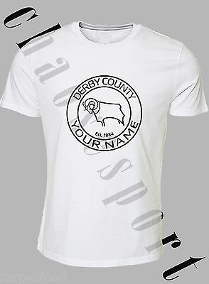 derby county football themed  Tshirt Band new Printed to order add your name