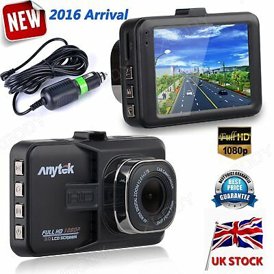 HD 1080P 3'' In Vehicle Car Dash Camera Video Recorder Cam DVR HDMI G-sensor UK