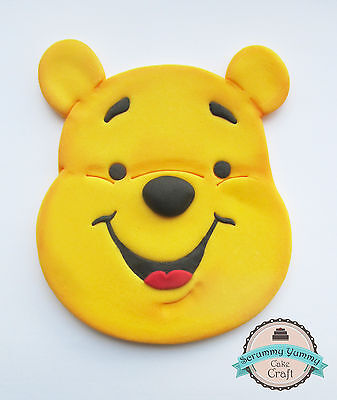 Winnie the pooh cake topper sugar decoration large face disney