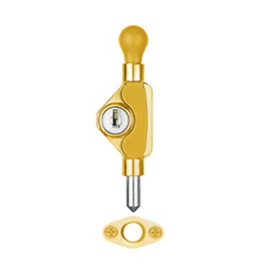 Delf Window Lock JQ002PB Mini Bolt Lockable Polished Brass