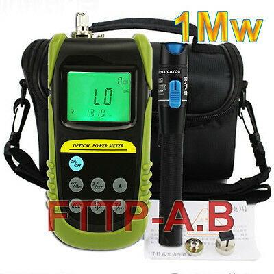 New Fiber Optical Power Meter & 1-5km 1mW Visual Fault Locator Cable Tester kits