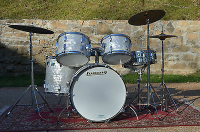 Ludwig Vintage 1976 White Marine Pearl impeccable kit mint 60s Zildjian cymbals