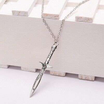 Sting Silver Sword Pendant Necklace LOTR/HOBBIT Unisex THE LORD OF THE RINGS