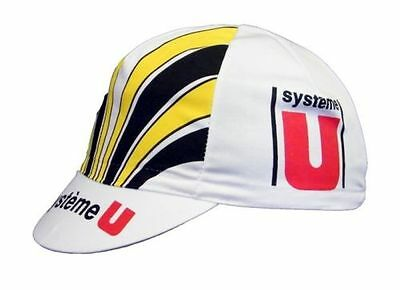 SYSTEME U RETRO CYCLING TEAM CAP - Vintage - Made in Italy - Laurent Fignon