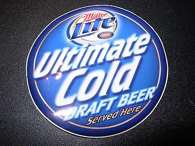 MILLER LITE Ultimate Cold Served Here STICKER decal craft beer brewery brewing