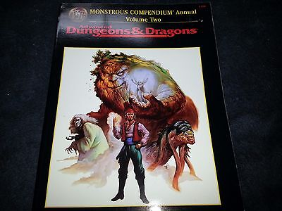 MONSTROUS COMPENDIUM ANNUAL VOLUME TWO 2158 AD&D D&D TSR Monster Manual