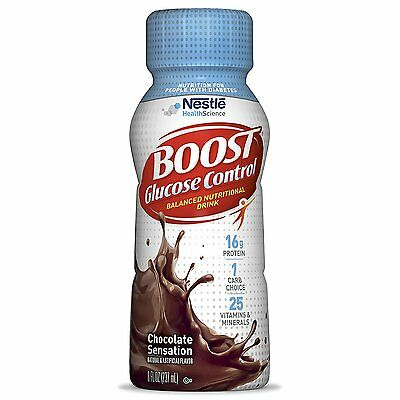 Boost Glucose Control Nutritional Drink, Rich Chocolate, 8 Fluid Ounce Pack of
