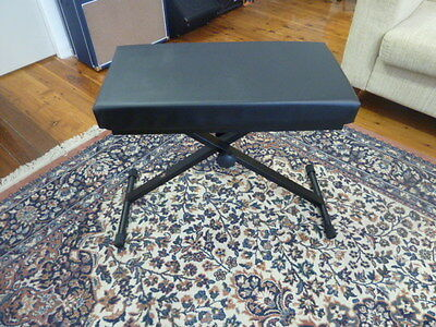 New Xtreme KT140 Heavy Duty Height Adjustable Keyboard or Piano Stool