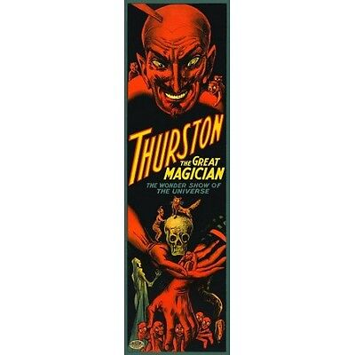 Thurston The Great Red Devil Skull Magic Vintage Magician Poster Reproduction