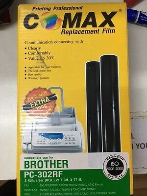 Comax fax machine replacement film rolls [for Brother PC=302RF]