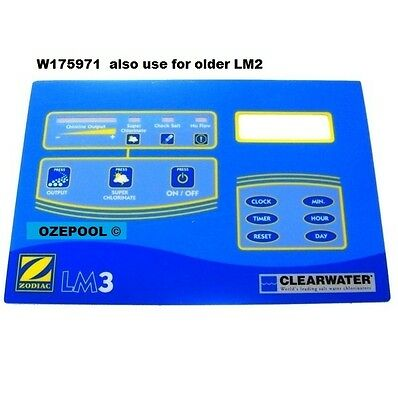 LM2/3 Top label, Genuine Zodiac, holes let in water, damage top PCB and clock