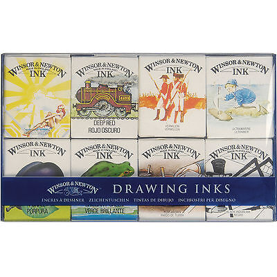 Wnsor & Newton Drawing Ink William Collection Set 8 x 14mls