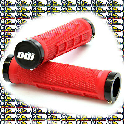 Poignées ODI RUFFIAN MX RED - bagues alu - Watercraft Lock-On Grips - PWC-jetski