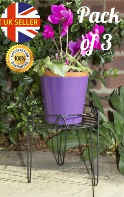 """Pack Of 3 8"""" 20cm Wire Hairpin Legs Metal Plant Pot Stand Indoor Outdoors"""
