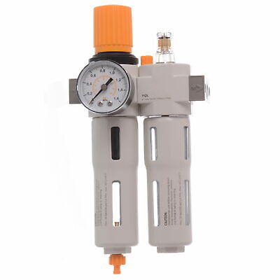 """THE BEST QUALITY 1/4"""" Air Line Regulator Lubricator and Water Trap With Filter"""
