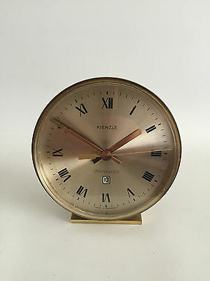 Kienzle Chronoquartz Germany Design Tischuhr Messing 60er 70er Table Clock 70s