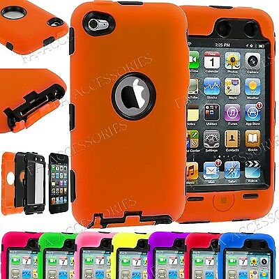 Heavy Duty Armour Shock Proof Builders Workman Case Cover for Apple iPod 4th Gen