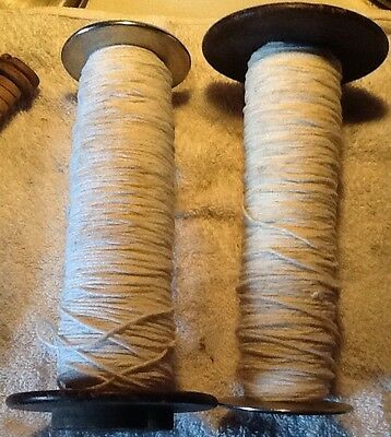 Vintage Wooden Industrial Bobbin, Quill, Spool, Thread ,Yarn,Textile. Lot Of 2