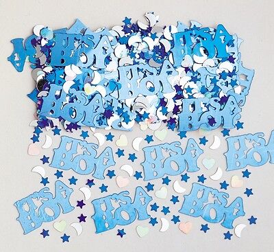 It's A Boy | Baby Shower Blue & Silver Party Table Confetti | Decoration 1-5pk