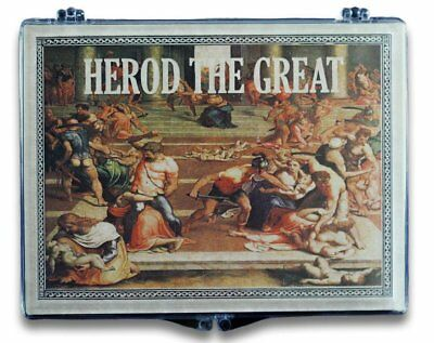 Herod the Great Bronze Prutah in a Clear Box