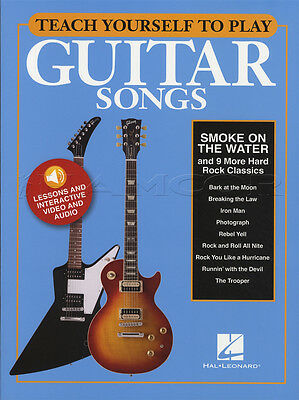 Teach Yourself To Play Guitar Songs Smoke On The Water TAB Music Book AudioVideo