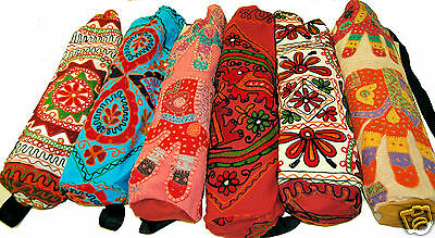 Hippy Bright Funky Fun Boho Indian Yoga Mat Bag Satchel - different colours