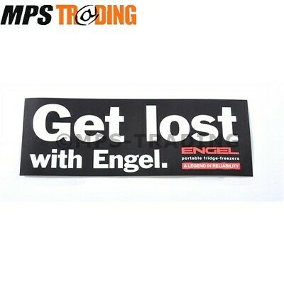 "ENGEL ""GET LOST WITH ENGEL"" DECAL STICKER 210MM x 75MM"
