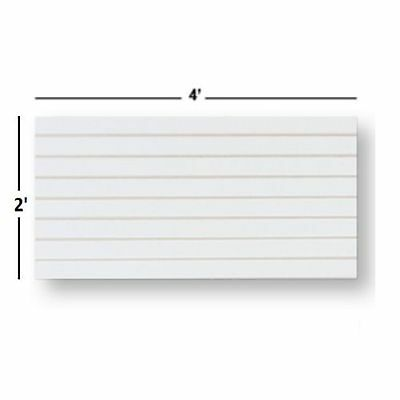 Slatwall Easy Panels, Set of 2 PIECES, 2' H x 4' W White FREE SHIPPING
