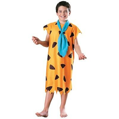Fred Flintstone Kids Costume The Flintstones 60s Cartoon Halloween Fancy Dress