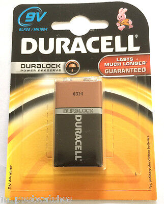 1 X Duracell Battery 9V 6LR61 MN1604 Alkaline Square Block Smoke Alarm Batteries