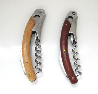 Professional Waiter's Friend Corkscrew Bottle Opener with Wooden Handle