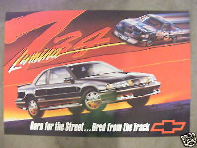 Chevy Lumina Z34 Poster Dale Earnhardt #3 GM