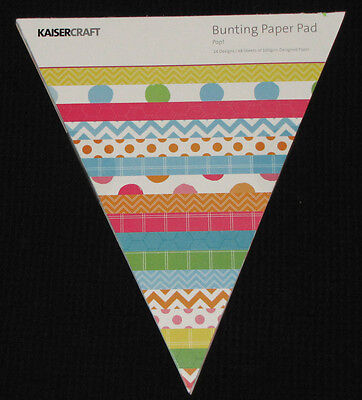 Kaisercraft 'POP!' Bunting Paper Pad 48 Sheets Party (24 Designs x2) KAISER