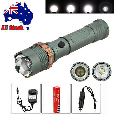 Adjustable 5000Lm Focus XM-L T6 LED 18650 Rechargeable Battery Flashlight Torch