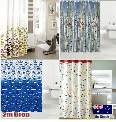 Premium quality Shower curtain 2 m long drop new polyester fabric mildew-free