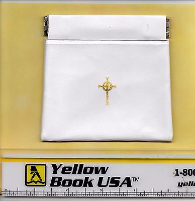 Oversized Soft White Vinyl Squeeze Rosary or Chaplet Case