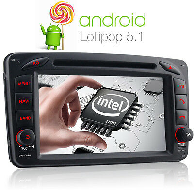 UK WTY Mercedes Benz C Class Android5.1 DVD GPS sat nav for W203 W209 Viano Vito
