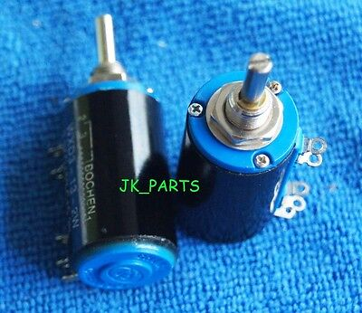 2pcs New WXD3-13-2W 10K ohm Rotary Multiturn Wirewound Potentiometer