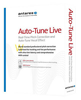 NEW Antares Auto Tune Live Pitch Correction Vocal Effect Audio Editing PC/MAC