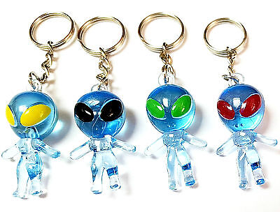 12 pcs Aliens With Key Ring Blue Wholesales Pinata Toys Prize Party Favors Gift