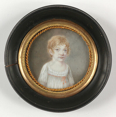 """Portrait of a little girl"", French miniature, 1800/10"