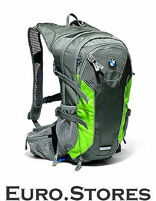BMW Multifunction Bike Backpack Grey & Green 80922298995 Genuine New Best Gift