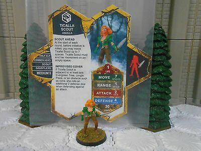 Heroscape Custom Ticalla Scout Double Sided Card & Figure w/ Sleeve Aquilla