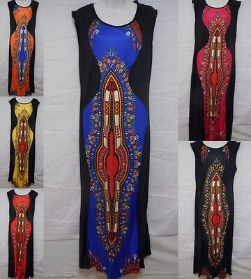 Womens African Traditional Kaftan Dashiki Ethnic Party Attire Dress plus size