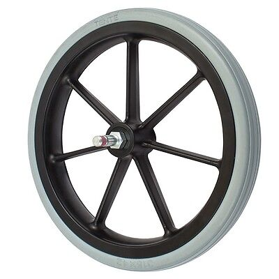 315mm  Non-Marking Grey Rubber Wheelchair Wheel