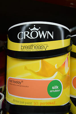 Crown Silk Emulsion Paint For Walls & Ceilings Hot Toddy Orange