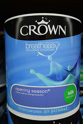 Crown Silk Emulsion Paint For Walls & Ceilings Opening Season