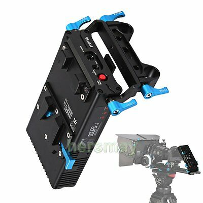 FOTGA DP500 Mark III V-Mount BP Battery Power Supply Plate For 7D 5DII 5DIII NEW