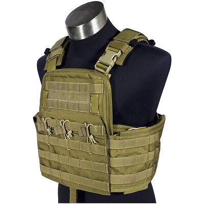 Flyye Field Compact Plate Carrier Tactical Military Armour Cordura Vest Khaki